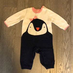 Baby sweater romper